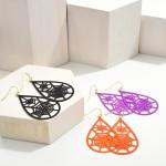 Wholesale halloween Metal Teardrop Earrings Spider Wed Details
