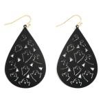 Wholesale halloween Metal Teardrop Earrings Ghost Tombstone Details