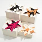 Wholesale textured Cow Print Star Drop Earrings