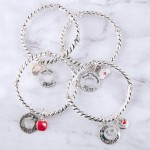 Wholesale most Nurse engraved cut out charm cable stretch bracelet Kindness Com