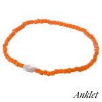 Wholesale bubble beaded faux pearl stretch anklet diameter unstretched Fits up a