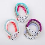 Wholesale inspirational Polymer Clay spacer disc beaded stretch bracelet set pcs