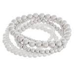Wholesale faux pearl beaded sphere stretch bracelet set pcs set diameter unstret