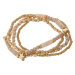 Wholesale semi precious natural stone beaded star stretch bracelet set pcs pack