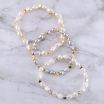 Wholesale pearl beaded star stretch bracelet diameter Fits up wrist
