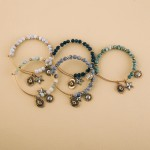 Wholesale beaded bangle bracelet western accents Natural stone inspired beads We