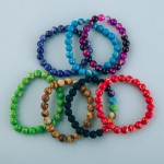 Wholesale beaded stretch natural stone inspired Color Therapy bracelet Color The
