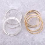 Wholesale satin Gold stackable bangle bracelet set pcs pack diameter Fits up wri