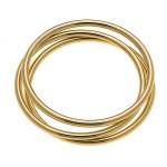 Wholesale gold Metal Bangle Bracelet Set pcs set diameter Fits up wrist