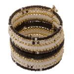 Wholesale multi beaded bohemian bangle cuff bracelet diameter unstretched Fits u