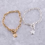 Wholesale chain link star toggle bar bracelet Toggle bar clasp diameter Fits up
