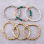 Wholesale metal spacer disc beaded stretch bracelet diameter unstretched Fits up