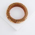 Wholesale multicolor ethnic embroidered bangle statement bracelet diameter Fits