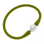 Wholesale silicone Flex Pearl Stretch Bracelet Flexible silicone band rolls hand