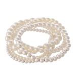 Wholesale pearl Beaded Stackable Stretch Bracelet Set Worn Silver pcs set diamet