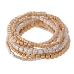 Wholesale multi Block Beaded Stacking Stretch Bracelet Set pcs set mm mm mm Bead
