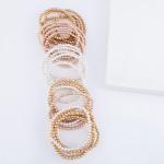 Wholesale beaded Ball Stacking Bracelet Set Worn Gold pcs set mm Bead diameter F