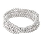 Wholesale beaded Ball Stacking Bracelet Set Worn Silver pcs set mm Bead diameter
