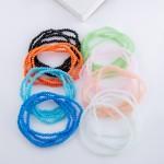 Wholesale dainty faceted beaded stretch bracelet set pcs set diameter unstretche