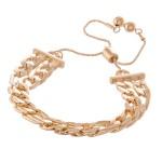 Wholesale curb Chain Link Bolo Bracelet diameter Fits up wrist