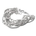 Wholesale chain Link Layered Bracelet diameter Fits up wrist Adjustable Extender