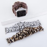 Wholesale interchangeable leopard print scrunchie smart watch band smart watches