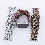 Wholesale interchangeable cheetah print scrunchie smart watch band smart watches