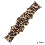 Wholesale interchangeable leopard print scrunchie smart watch band smart watches