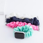 Wholesale interchangeable solid scrunchie smart watch band smart watches Fits mm