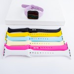 Wholesale interchangeable solid silicone smart watch band smart watches Fits mm