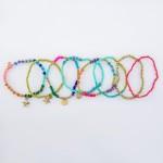 Wholesale multicolor Seed Beaded Boho Star Charm Stacking Stretch Bracelet Set p