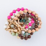 Wholesale wood Beaded Bamboo Cross Stretch Bracelet diameter unstretched Fits up