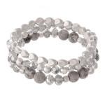 Wholesale semi Precious Beaded Stretch Bracelet Set Natural Stone Details pcs se