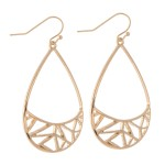 Wholesale brass Filigree Teardrop Earrings L
