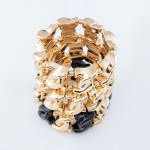Wholesale chunky Chain Link Statement Stretch Bracelet Gold diameter Fits up wri