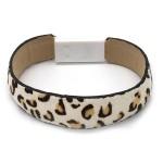Wholesale faux Leather Leopard Print Lightning Cable USB Charger Bracelet Lightn