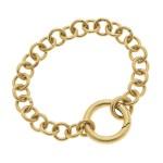 Wholesale chain Link O Ring Bracelet Worn Gold O Ring Hinge Clasp Closure Diamet