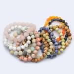 Wholesale natural Stone Beaded Stretch Bracelet Bead mm Diameter