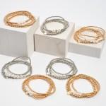 Wholesale pC Beaded Blessed Heart Stretch Bracelet Set PC Per Set Diameter