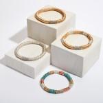 Wholesale metal Spacer Beaded Rhinestone Stretch Bracelet Diameter