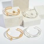 Wholesale open End Metal Star Cuff Bracelet Diameter