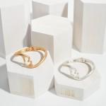 Wholesale love Language Bangle Cuff Bracelet Worn Finish Diameter