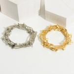 Wholesale set Five Metal Wire Bracelets Lightning Bolt Accents Diameter
