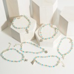 Wholesale beaded Anklet Silver Sand Dollar Accent Diameter