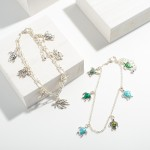 Wholesale silver Anklet Sea Turtle Charms Diameter
