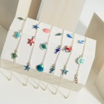 Wholesale silver Anklet Seahorse Charms Diameter