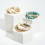 Wholesale chain Link Bracelet Natural Stone Accents Diameter