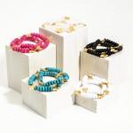 Wholesale set Two Beaded Bracelets Gold Star Accents Diameter