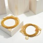 Wholesale gold Stackable Cord Bracelet Set Texas Charms Diameter