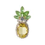 Wholesale rhinestone pineapple blouse pin